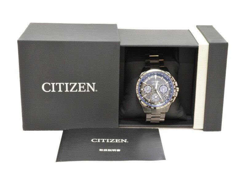 CITIZEN シチズン CC9017-59L メンズ時計 ATTESA GPS衛星電波時計 グレー×ブルー 【中古】