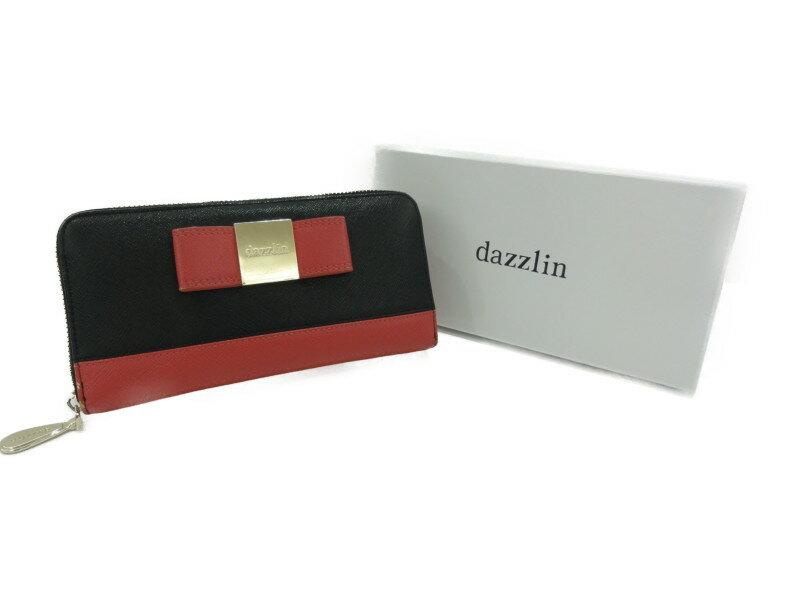 dazzlin ダズリン バイカラー 長財布 ブラック×ピンク レディース 【中古】