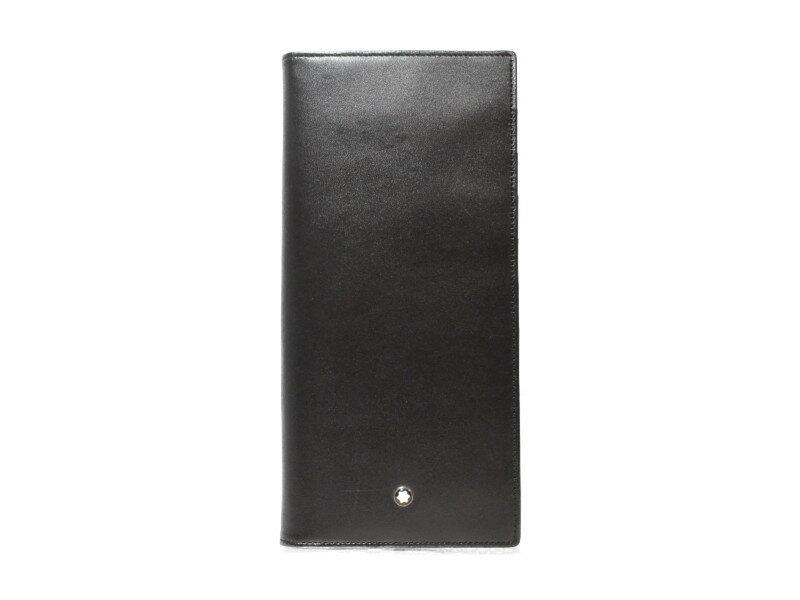 MONTBLANC モンブラン 長財布 レザー ブラック 黒 メンズ 箱付き【中古】