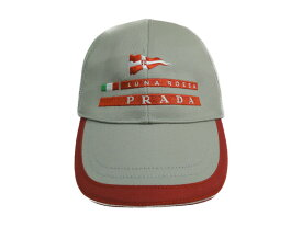 PRADA プラダ キッズ用 キャップ 帽子 XXS ミリタリー系 カーキ/レッド/ホワイト/グリーン/ブルー 【中古】