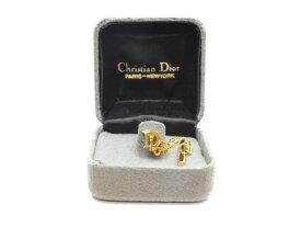 Cristian Dior クリスチャンディオール ロゴ ネクタイピン ゴールド メンズ【中古】