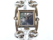GUCCIグッチ116.5シニョーニアブルーシェル文字盤クオーツレディース時計ホースビット【中古】