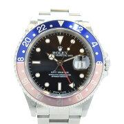 【ROLEX】ロレックスGMTマスタートリチウム赤青べゼルトリチウム黒文字盤自動巻きメンズ腕時計16700U番(1997