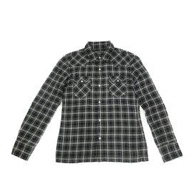 BEAMS ビームス チェック柄シャツ ネルシャツ ネイビー系 レディース Lサイズ 【中古】