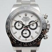 ROLEXロレックス116500LNコスモグラフデイトナ白文字盤自動巻きメンズ腕時計外装仕上げ済み【中