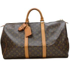 LOUIS VUITTON ルイヴィトン キーポル50 M41426 モノグラム ボストンバッグ 旅行バッグ 大容量 ユニセックス 【中古】