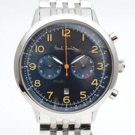 Paul Smith ポールスミス  P10017 クロノグラフ クオーツ 腕時計 メンズ ネイビー/シルバー 未使用【中古】