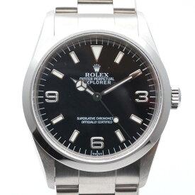 ROLEX ロレックス 14270 エクスプローラー A番(1999年海外記載) ブラック/シルバー ステンレススチール メンズ ビジネス 腕時計 【中古】