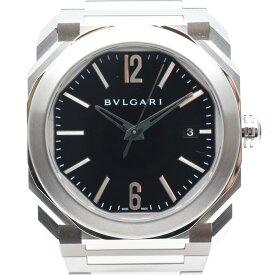 BVLGARI ブルガリ BGO38BSSD オクト ソロテンポ メンズ 腕時計 ブラック/シルバー 機械式 自動巻き 2021年5月OH済み 【中古】