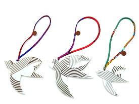 【未使用品】HERMES エルメス Petit H ツバメ オーナメント チャーム 3個セット 磁器×シルク【中古】