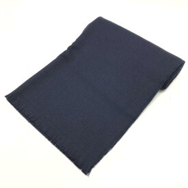 a298735b7f65 PRADA プラダ マフラー ストール スカーフ ネイビカラー 紺色 イタリア製 羊毛100% ロゴ入 ブランド メンズ