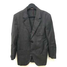 ■Berluti ベルルッティ ジャッカカミーチャ メンズ ジャケット アウター ウール 麻 シルク ブラウン サイズ46 管理YK19002115