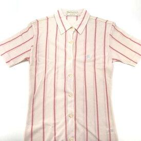 BURBERRYS バーバリーズ ポロシャツ Tシャツ サイズS ストライプ ピンク コットン素材 婦人服 レディース 衣類 トップス 管理RY19002124
