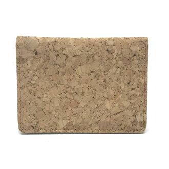 ■Management YK19002071 where beautiful article NB no-brand card case pass case card case men man cork nylon light brown is mild