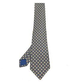未使用 HERMES エルメス シルク ネクタイ 総柄 スーツ ビジネス 紳士服 結婚式 二次会 紙袋付き ブルー 青 ブランド 管理19004073