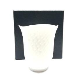 未使用 MEISSEN マイセン 波の戯れ ホワイトタンブラー 白 290ml マグカップ コップ 陶器 食器 キッチン ブランド 管理RY19004936