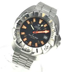 Zodiac ゾディアック 506.54.44 スーパーシーウルフ メンズ 腕時計 自動巻き ダイバーズ 黒文字盤 3針 デイト ステンレス 管理YK20000252