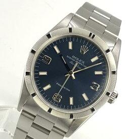 美品 ROLEX ロレックス 14010 エアキング メンズ 腕時計 自動巻き 青文字盤 3針 プレシジョン ステンレス オイスター U番 管理YK20000739