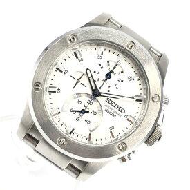SEIKO セイコー 7T82-0AT0 イグニッション 腕時計 1/1000 クォーツ SS ステンレス 白文字盤 3針 カレンダー メンズ 管理RY20001879