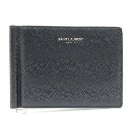 SAINT LAURENT サンローラン クラシック ビルクリップ ウォレット 財布 マネークリップ 黒 ブラック レザー ブランド 管理RY20003215