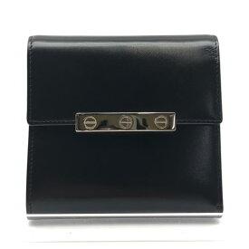 Cartier カルティエ 財布 ラブ カーフスキン 二つ折り 黒 ブラック レザー 小銭入れ コイン カードケース メンズ ブランド 管理RY20003670