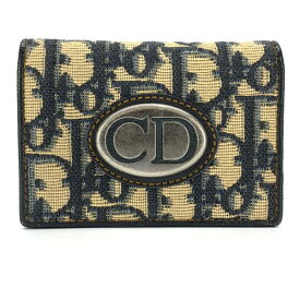 Dior ディオール トロッター ロゴ カードケース 名刺入れ 定期 パスケース ネイビー 紺色 通勤 通学 レディース ブランド 管理RY20004081