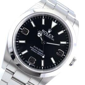 ROLEX ロレックス 214270 エクスプローラー1 メンズ 腕時計 自動巻き 黒文字盤 ブラックアウト 3針 ステンレス ランダム 管理RY21001622