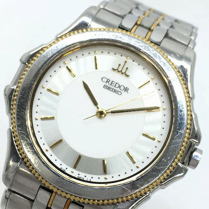 SEIKO セイコー CREDOR クレドール パシフィーク GCAR034 8J81-6B60 コンビ ボーイズ クオーツ腕時計 レディース メンズ 廃盤モデル 管理YI
