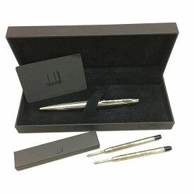 DUNHILL ダンヒル ボールペン 回転式 シルバー インク2本付き 黒 ブラックインク 箱付き メンズ 中古 管理HS7129