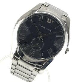 EMPORIO ARMANI エンポリオアルマーニ AR-11086 メンズ 腕時計 クオーツ 黒文字盤 ローマンインデックス スモールセコンド 管理YK20950