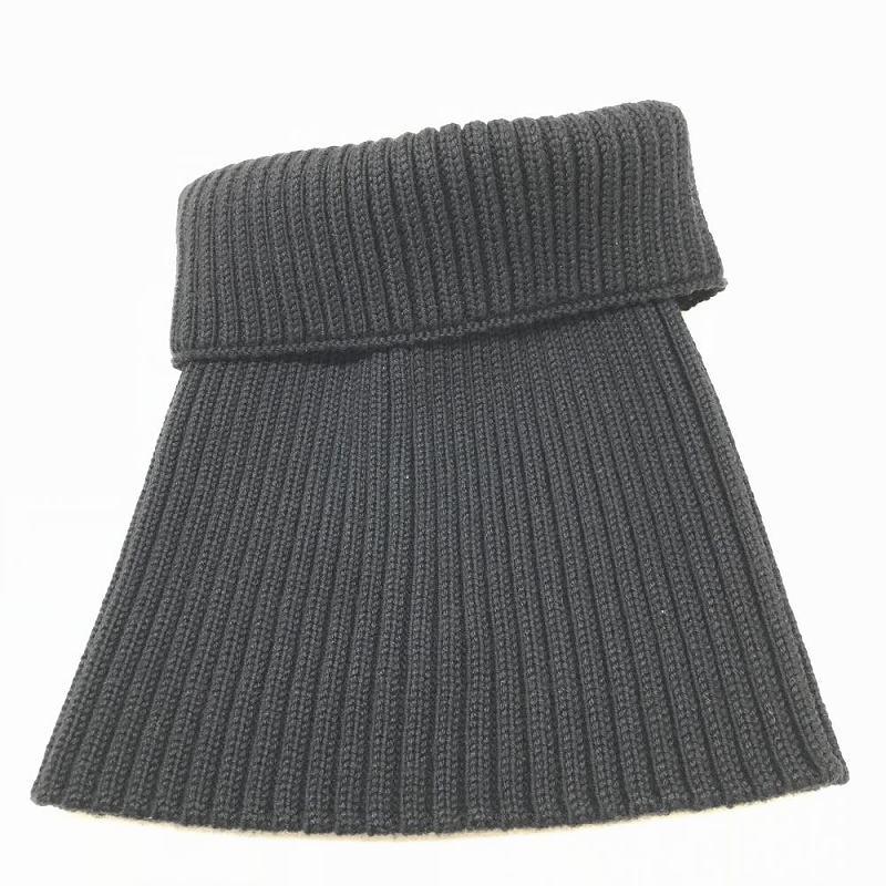 LOUIS VUITTON ルイ・ヴィトン ニット帽 ブラック メンズ Mサイズ ウール 羊毛 100% イタリア製 頭周り44cm 中古 管理HS2246