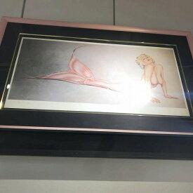 絵画 オリビア 技法 スターフィッシュ ED499/500 サイズ H48cm W90cm 人魚 女性 中古 管理HS0072