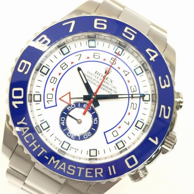 ROLEX ロレックス 116680 ヨットマスター2 オイスターブレスレット マットホワイトラッカー 箱・ギャラ有 メンズ 腕時計 管理YI10770