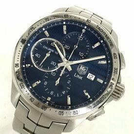 TAG-HEUER タグ・ホイヤー リンククロノ ディカプリオ 世界限定モデル CAT2015.BA0952 メンズ オートマチックデイト 腕時計 管理YI10858