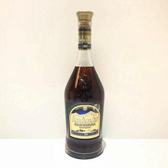 有AKHTAMAR白兰地二手货箱子ARARAT口疮泥灰10年的700ml 40度ARMENIAN酒管理RT12078