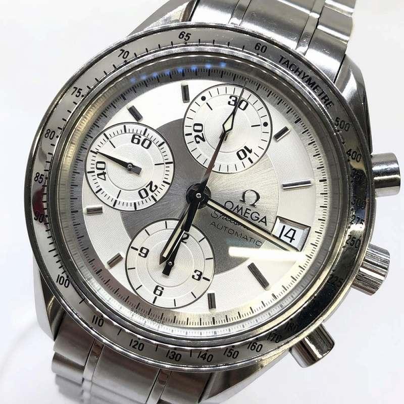オメガ OMEGA 3513.30 スピードマスター デイト Speedmaster シルバー文字盤 クロノグラフ 箱 ギャラ メンズ腕時計 管理RM12130