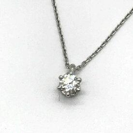 4℃ ヨンドシー Pt995 プラチナ ソリティアネックレス ダイヤモンド D0.164ct レディース アクセサリー ジュエリー 一粒 首飾り管理RT13957