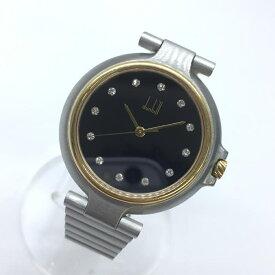 dunhill ダンヒル ミレニアム レディース腕時計 ダイヤモンド 12P コンビ SS ステンレス クオーツ 黒文字盤 QZ 管理RM14567