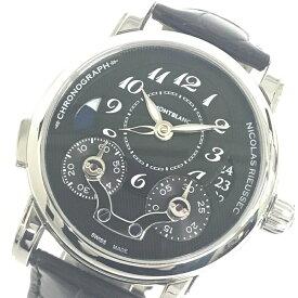 美品MONT BLANC/モンブラン モンブラン ニコラ リューセック モノプッシャー クロノグラフ 106488 自動巻き メンズ 腕時計 管理YO14744
