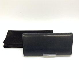 ココマイスター COCOMISTER 2つ折り 長財布 コードバン レザー ブラック ナチュラル 黒 メンズ 管理RM15226