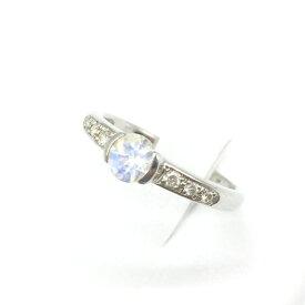 スタージュエリー アクセサリー プラチナリング 指輪 pt950 ムーンスト-ン レディース ブランド小物 貴金属 9号 中古 管理RT15573