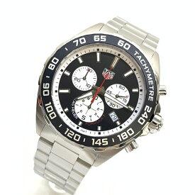 美品TAGHEUER/タグホイヤー フォーミュラ1 CAZ101E クォーツ クロノグラフ QZ 稼働品 ダイバーズ デイト メンズ腕時計 黒文字盤 管理YO15690