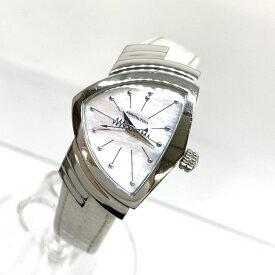 HAMILTON ハミルトン H242111 ベンチュラ QZ シェル文字盤 レディース 腕時計 レザーブレス クオーツ 管理RM16178