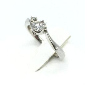 4℃ ヨンドシー リング 指輪 プラチナ Pt950 3.8g ダイヤモンド D0.222ct ソーティング付き 6号 レディース アクセサリー 中古 管理RT16344