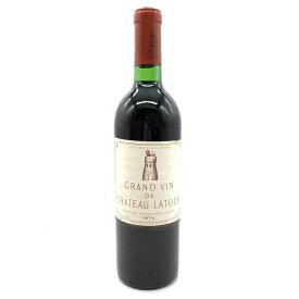 Ch Latour シャトー ラトゥール 1974年 750ml ボルドー 1級 格付け 赤ワイン メドック ポイヤック ビンテージワイン 管理17480