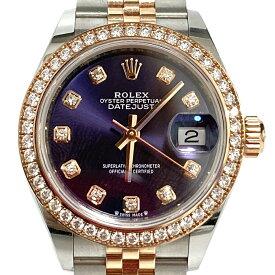 ロレックス【ROLEX】デイトジャスト 279381RBR 自動巻 レディース腕時計 パープル文字盤 SS/PG エバーローズゴールド USED:A【中古】かんてい局亀有店