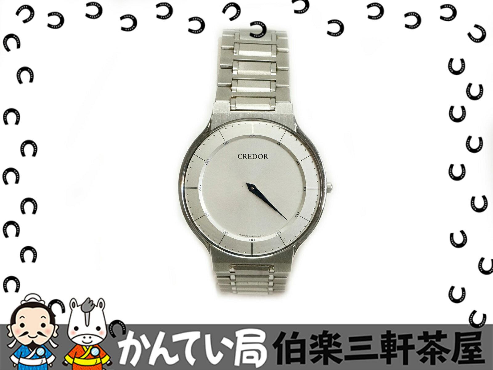 SEIKO(セイコー)クレドール 8J80-0AD0 シルバー文字盤 SS クオーツ メンズ腕時計【中古】