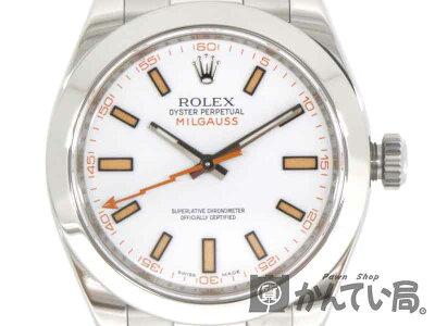 ROLEX【ロレックス】116400ミルガウスステンレススチール自動巻きV番ブランドファッション腕時計【中古】質屋かんてい局茜部店USED-9a19-7262