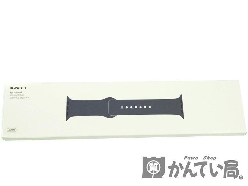 Apple【アップル】 スポーツバンド Apple Watch アップルウォッチ 42mm用 ラバー ミッドナイトブルー ファッション 【中古】 質屋 かんてい局春日井店 USED-S【10】 k18-5089
