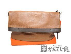 0017254ed870 COACH【コーチ】F70928 2WAYショルダーバッグ レザー ブラウン系 ダークブラウン オレンジ 配色 シルバー